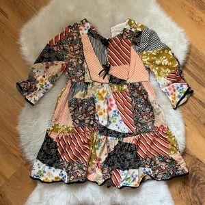 Zara Girls Patchwork Dress Size 6
